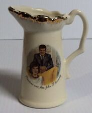 President and Mrs John F Kennedy Souvenir Pitcher USA