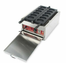 Commercial Nonstick Electric Egg Cake Waffle Iron Machine Maker 110 3Kw Cook