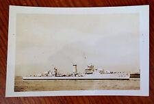 USS WARRINGTON DD 383 WWII DESTROYER REAL PHOTO POSTCARD