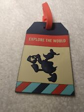 "Donald duck Luggage Tag 4"" Rubber Disney"