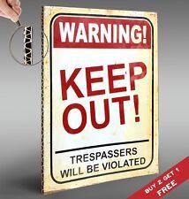 Avvertenza tenere fuori 30x21cm CARTONE montato poster vintage Porta Firmare Design Stampa