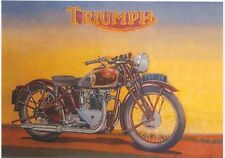 Triumph c 1939 Modern colour postcard by Robert Opie
