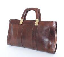 Vintage Tote Bag   1980s   Brown Leather  Large