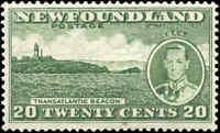 Mint Canada Newfoundland 1937 F+ Scott #240b Coronation Stamp Hinged