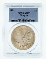 1921 $1 Silver Morgan Dollar Graded by NGC as MS-63! Gorgeous Morgan!