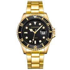 Mens Submariner Homage Watch Quartz Reginald Rotating Bezel Gold Black Green Red
