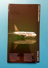 FRONTIER AIRLINES SAFETY CARD--AIRBUS 319-- 2009 REV!!