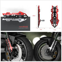 2 Pcs Red Aluminum Alloy Motorcycle Front Shock Covers 53mm Pressure Code Stent