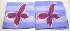 """Butterfly Frolic (4) Pc Sheet Set ~ Purple Multi ~ Full 11"""" Pocket **NEW**"""