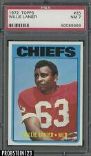 1972 Topps Football #35 Willie Lanier Kansas City Chiefs PSA 7 NM