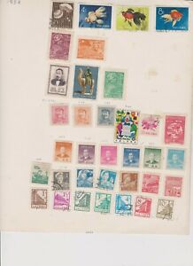 2149 China 2 sides album page 39 stamps mixed condition