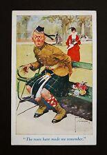 1918 WW1 Postcard Scottish Soldier Kilt Le Strange Arms Hotel Hunstanton Norfolk