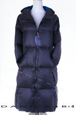 Tommy Hilfiger Women's Hooded Quilted Maxi Down Puffer Coat Medium Navy
