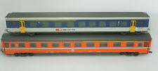 Roco H0 2 Personenwagen der SBB un FS (G23)
