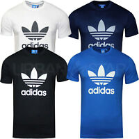 Adidas Men's OriginalsTrefoil T Shirt Crew Neck Retro Cotton T-Shirt S M L XL