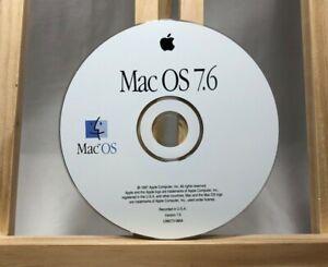 Vintage Apple Mac OS 7.6 original CD