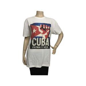 Patria y Vida Camiseta para Cubanos Movimiento Viva Cuba - T Shirt Size Medium