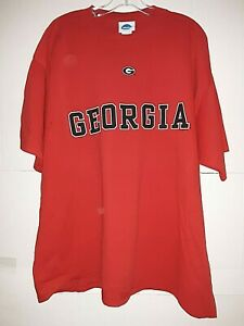 Georgia Bulldogs NCAA Men's Screen Printed Red T-shirt, 2X