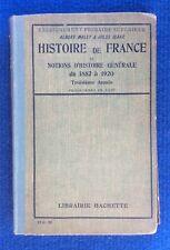 Histoire de France et notions d'histoire générale de 1852 à 1920 Malet- Isaac
