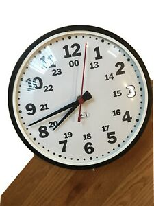 Wall Clock,Analog,Electric 24 Hours P and I Industries