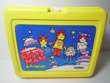 RARE VTG 1984 ROBOT MAN & FRIENDS SPACE CARTOON ODD PLASTIC LUNCHBOX BY THERMOS