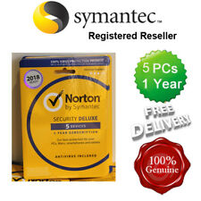 Norton ( Internet ) Security Antivirus All In ONE 5 PCs 1 Year Retail 2017 UK
