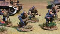 28mm Waffen SS Panzer Grenadier Squad comprising 10 figures #C