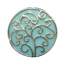 Noosa Style Chunk Chunks Ginger Snap Button Jewellery Charms Blue Tree Life 18mm