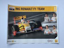 RENAULT F1 senza segno POSTER RARA Alonso, PIQUET, GROSJEAN e Khan.