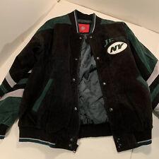 New York Jets Suede Jacket GIII Apparel NFL sz XL