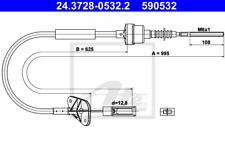 Seilzug Kupplungsbetätigung - ATE 24.3728-0532.2