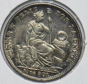 Peru 1916 1/5 Sol Laama animal 292733 combine