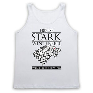GAME OF THRONES UNOFFICIAL HOUSE STARK GOT WINTER WOLF ADULTS VEST TANK TOP