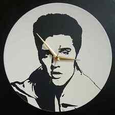 """""""Elvis Presley"""" 12 """"LP Vinyle Horloge Murale, POP ART, Pochoir, toile, imprimer"""