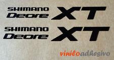 PEGATINA STICKER VINILO Bicicleta Shimano XT Deore biela cambio bike
