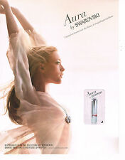 PUBLICITE ADVERTISING  2011   SWAROVSKI   parfum AURA   ( recto verso)