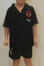 PUMA AUSTRIA [Talla 116] MINIKIT Juego de Jersey Camiseta Negro Austria