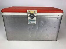 Poloron Thermaster Aluminum Ice Chest Cooler Retro 1960's Rare Orange Clean