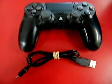 Sony PlayStation 4 PS4 Dualshock 4 Wireless Controller OEM Jet Black *EXCELLENT*