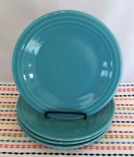 Fiestaware Turquoise Lunch Plates Lot of 4 Fiesta Blue 9 inch Luncheon