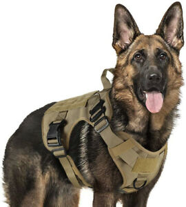 Waterproof Tactical Dog Harness with Handle No-pull Large Military Dog Vest