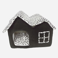 Soft Pet Cat Dog House Sleeping Bed Warm Cushion Nest Cave Indoor Outdoor Pad US