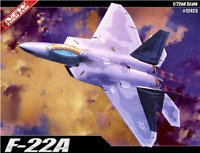 Academy #12423 Plastic Model Kit 1/72 F-22A Raptor Air Dominance Fighter