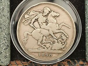 1890 Silver Coin Queen Victoria Jubilee Head