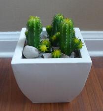 12 Artificial Mini Columnar Cactus Plants Grass Home Garden Decor (Set of 3)