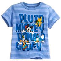 Disney Store Mickey Mouse Pluto Donald Goofy Boys T Shirt Size 2/3 5/6 7/8 10/12