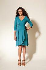 Blue wrap maternity dress - Boob Maternity dress - S / M / L