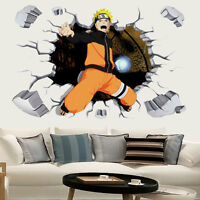 Naruto Anime Manga 3D Wandtattoo Wandaufkleber Wandsticker 90X60CM PVC Neu