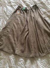 BNWT Beige RIVER ISLAND Knitted Midi Skirt Full Flowing Smart Casual 8 £26.99