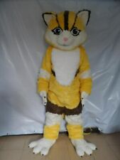 Christmas Yellow Fox Mascot Costume Suits Cosplay Party Clothing Carnival Adult
